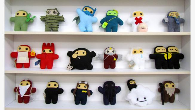Shawnimals stuffed ninjas, Martha Stewart American made